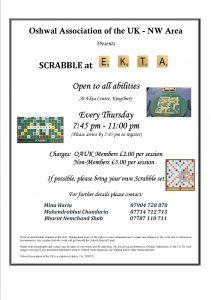 NW Weekly Scrabble @ Oshwal Ekta Centre