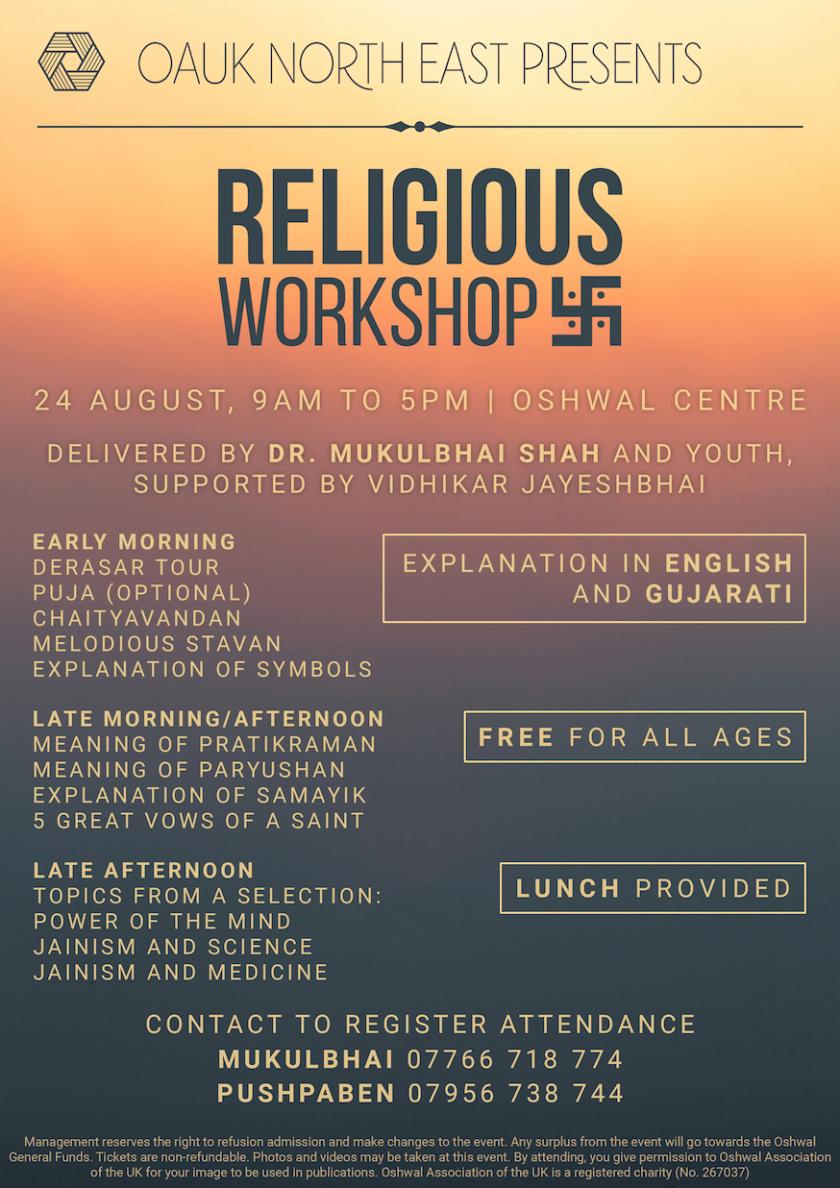 NE Religious Workshop 2019
