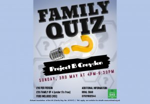 South Area Quiz @ Project B Croydon