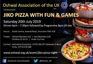 Jiko Pizza Night @ Oshwal Shakti Centre