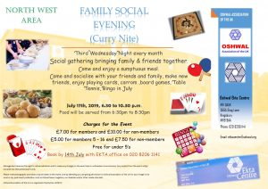 NW Family Social Evening (Curry Nite) - July