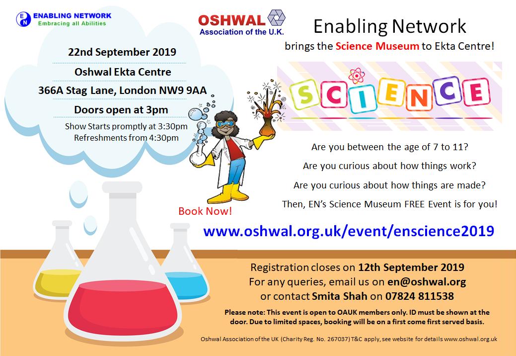 EN Science Museum at Ekta Centre 2019 | Oshwal Association of the U K