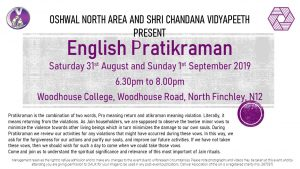 North English Pratikraman @ Woodhouse College