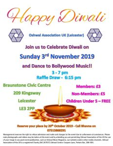 Leicester Area Diwali 2019 @ Braunstone Civic Station