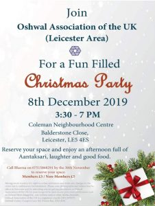 Leicester Area Christmas Party 2019 @ Coleman Neighbourhood Centre