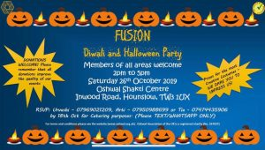 Fusion Diwali and Halloween Party @ Oshwal Shakti Centre