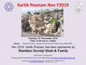 Kartik Poonam @ Oshwal Centre