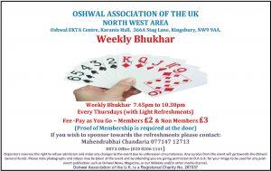 NW Weekly Bhukhar @ Karania Hall, Oshwal Ekta Centre