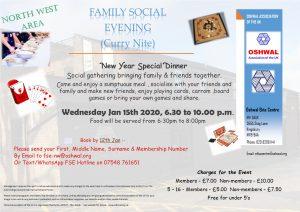 NW Family Social Evening (Curry Nite) @ Oshwal Ekta Centre