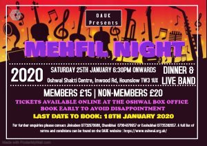 Mehfil Night @ Oshwal Shakti Centre