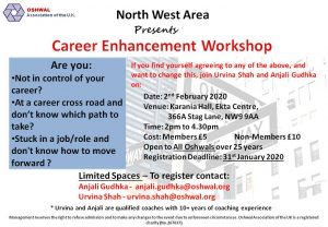 Career Enhancement Workshop @ Karania Hall, Oshwal Ekta Centre