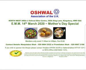 NW Elderly Monthly Meets @ Oshwal Ekta Centre   England   United Kingdom