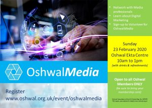 OshwalMedia Meeting @ Oshwal Ekta Centre